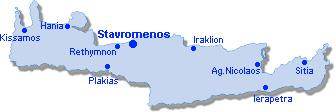 Stavromenos: Site Map