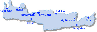 Sfakaki: Site Map