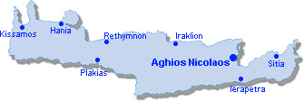 Aghios Nicolaos: Site Map