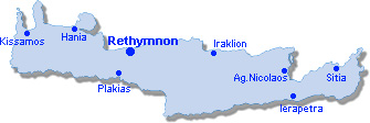 Rethymnon: Site Map