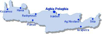 Aghia Pelaghia: Site Map