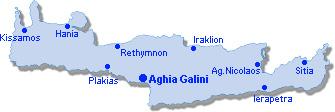 Aghia Galini: Site Map